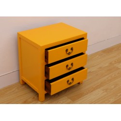 Chinese yellow side-cabinet...