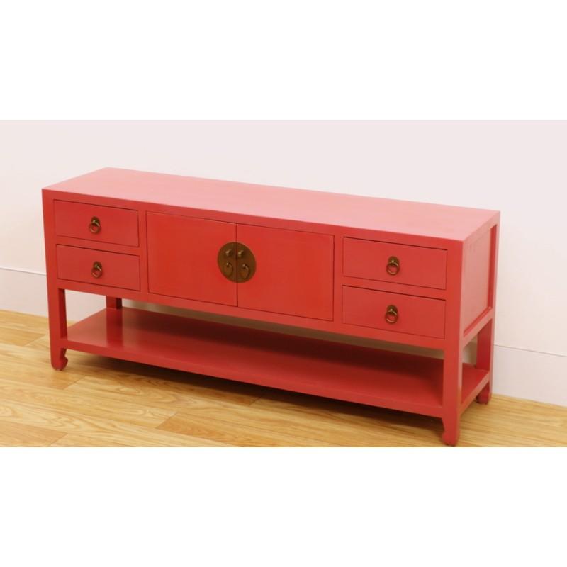 Purple Chinese TV cabinet 130 cm