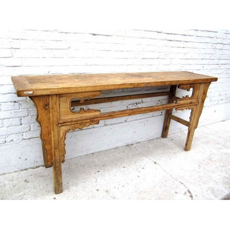 Bleached wood chinese altar table 182 cm