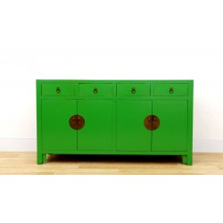Chinese green sideboard 150 cm