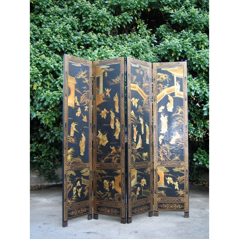 Chinese  painted screen