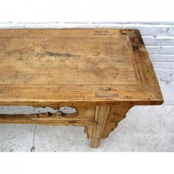 Bleached wood chinese altar table 182cm