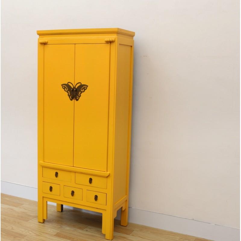 chinesischer gelber schrank 80 cm china collection. Black Bedroom Furniture Sets. Home Design Ideas