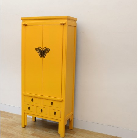 Armoire chinoise jaune 80 cm