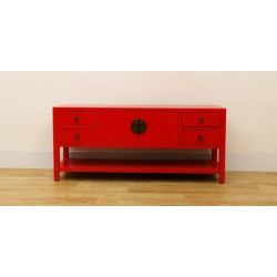 Antique-red Chinese TV...