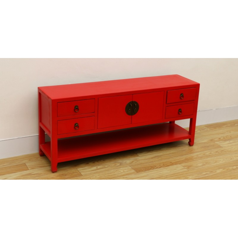 quality design f92a0 ba12d Antique-red Chinese TV cabinet 130 cm