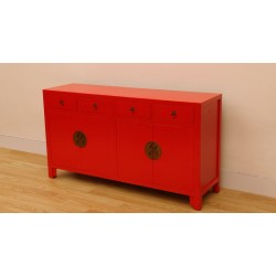 Chinese red color sideboard...
