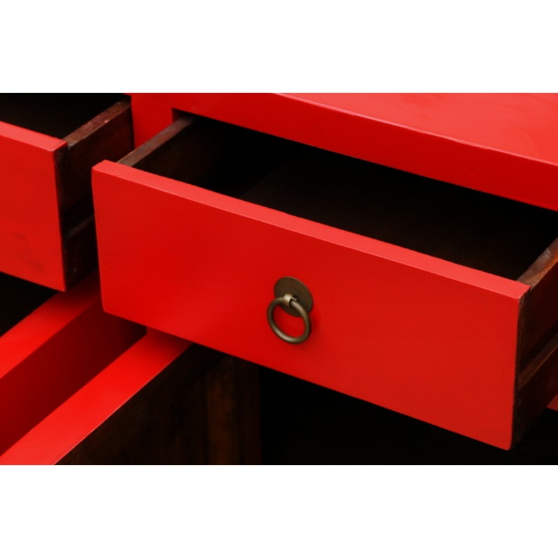 Chinese Red Color Sideboard 170 Cm China Collection