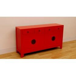 Bahut rouge vif (170 cm)