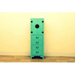 Meuble chinois bleu-vert 50 cm
