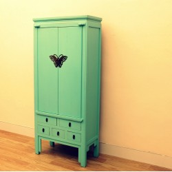 Chinese blue-green laquered...