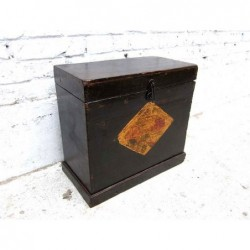 Antique painted trunk 43 cm
