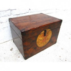 Old chinese book trunk 48 cm