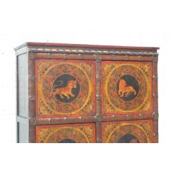 Armoire tibétaine. Décor de tigres 128 cm