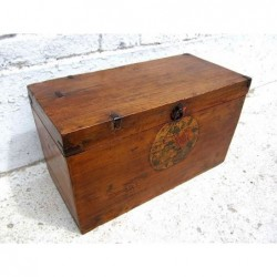 Chinese wooden trunk 46cm