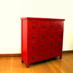 Antique-red Chinese medicine chest 90 cm