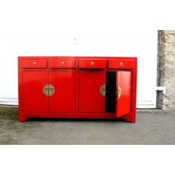 Chinesische rote lackierte Anrichte 170 cm