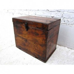 Elm wood chinese chest 44cm