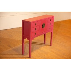 Purple laquered chinese console table 91cm