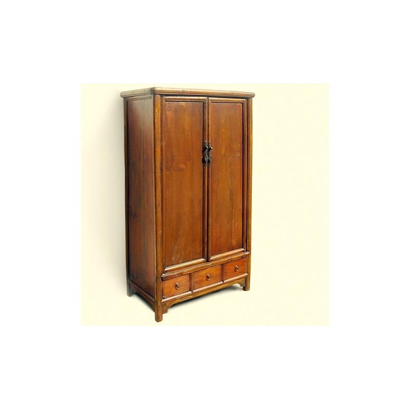 Ming style wardrobe in elm wood 98cm