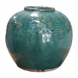 Green-blue Chinese pot