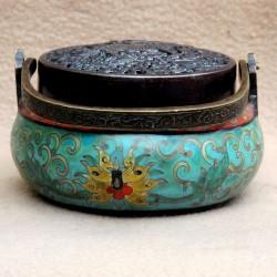 Cloisonne-enamel encense burner