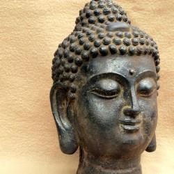 Tête de Bouddha en bronze