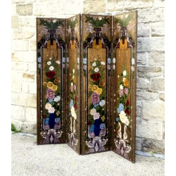 Hand painted chinese screen