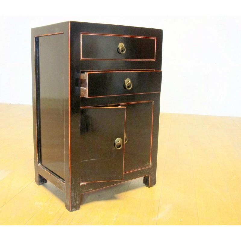 Petit Meuble Laque Noir 40 Cm China Collection