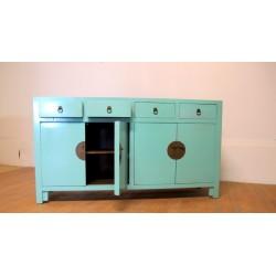 Bahut bleu-vert (170 cm)