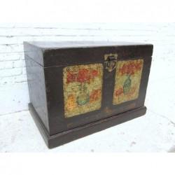 Malle chinoise peinte 89 cm
