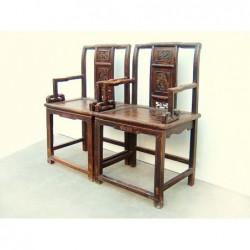 Geschnitzte Ming-Stil Sessel (Preis pro Stück)