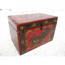 Small painted trunk 53 cm