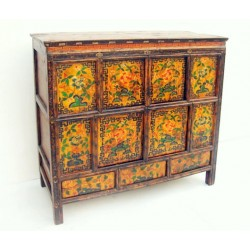 Tibetan furniture. Original paiting 111 cm