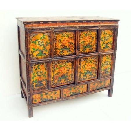 Tibetan furniture. Original paiting 111cm