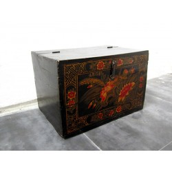 Chinese trunk with flowers...