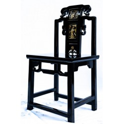 Chinese black lacquered...