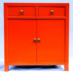 Orange two doors cabinet...