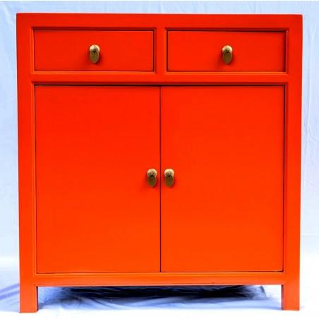 Orange two doors cabinet (90 cm) 7 colours available