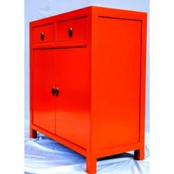 Orange two doors cabinet (90 cm)