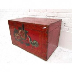 Red chinese trunk painted...