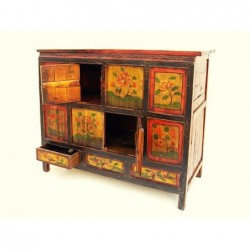 Tibetan cabinet with doors and drawers 117cm