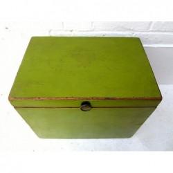 Coffre chinois vert  45 cm