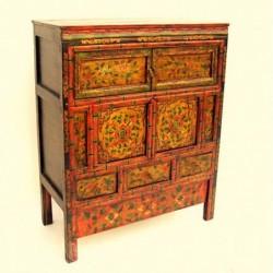 Tibetan cabinet. Floral...