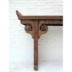 Grande console chinoise ancienne 220 cm