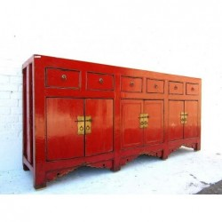 Chinese red lacquered...
