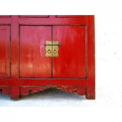 Chinese red lacquered sideboard 197cm