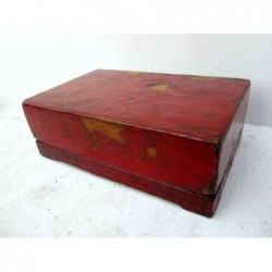 Chinese box red lacquerd 45cm