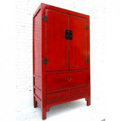 Old red lacquered cabinet....