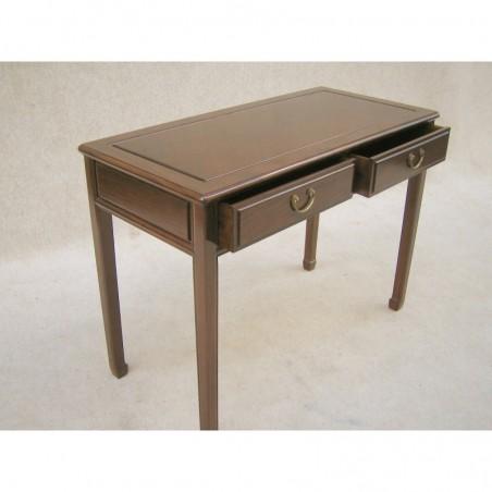 Chinesischer Schreibtisch mit zwei Schubladen 106cm